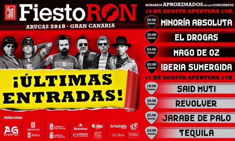 Cartel de Fiesto Ron 2018. Festivales en Canarias