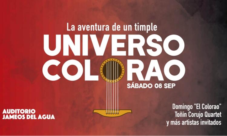 """Universo Colorao es una aventura musical que fusiona la música de raíz con las nuevas tendencias universales a partir de la exhaustiva labor de investigación y rescate de la música popular canaria realizada por el timplista majorero Domingo Rodríguez, """"El Colorao""""."""