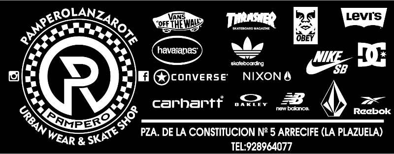 Pampero Lanzarote. Urban Wear & Skate Shop.