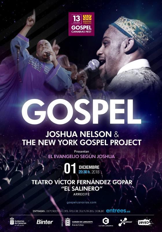 Regresa a Lanzarote el Gospel Canarias Festival, y lo hace con la actuación de Joshua Nelson & The New Yorkers Gospel Project