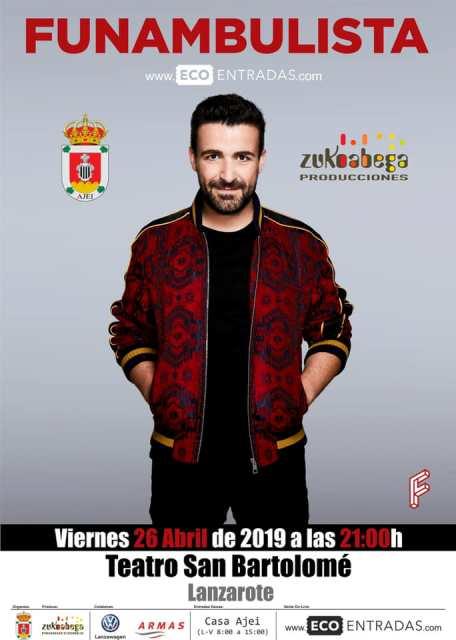 Funambulista confirma actuación en Lanzarote para abril del 2019 en su gira presentación del nuevo disco