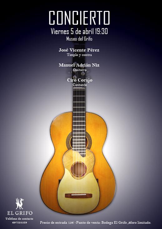 Tras el éxito de su primer concierto el pasado mes de febrero, el trío regresa al escenario del Museo de Bodegas El Grifo el 5 de abril.