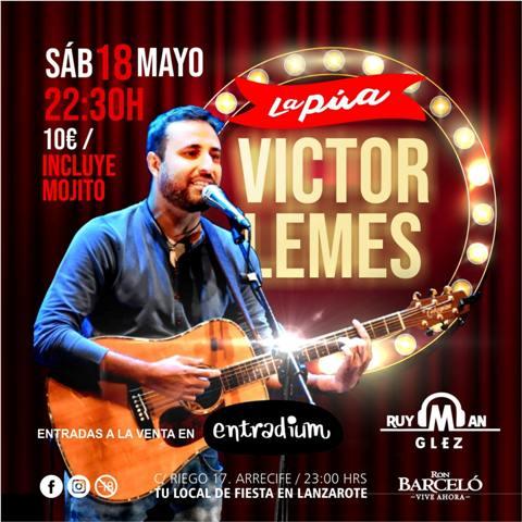 Víctor Lemes presenta 'perdona nuestras ofensas' en Pub La Púa. Conciertos Lanzarote