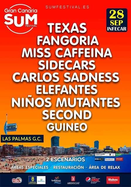 El 28 de septiembre se celebrará la segunda edición Gran Canaria Sum Festival que tendrá como cabeza de cartel al grupo escocés Texas