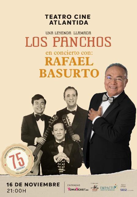 Rafael Basurto, último integrante de la formación original, ofrecerá un concierto en el que hará un reccorido por la historia de Los Panchos con su voz y arropado por imágenes de archivo.