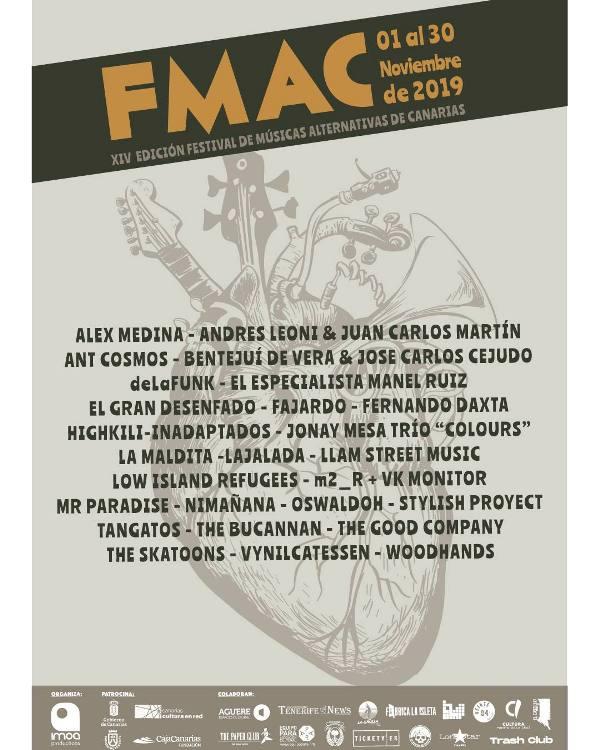 Un total de 27 propuestas artísticas tendrán lugar en la XIV del FMAC que se distribuirán por diferentes salas de Lanzarote, Gran Canaria, Tenerife y El Hierro