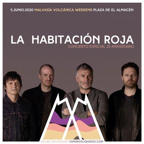 La gira 25 aniversario de La Habitación Roja ya tiene fecha para Lanzarote: el 5 de junio en el Malvasía Volcánica Weekend.