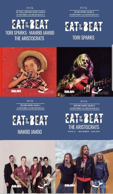 Te presentamos una lista con algunas de las canciones que actuarán en la cuarta edición de Eat to the Beat en una sola Playlist de Youtube.