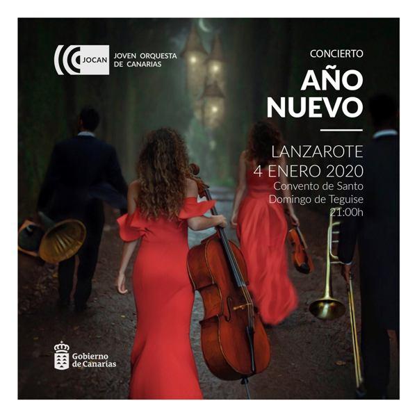 El sábado, 4 de enero, la Joven Orquesta de Canarias actuará en el Convento de Santo Domingo de la Villa de Teguise.
