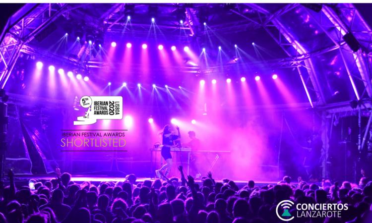 Conciertos Lanzarote finalista en los Iberian Festival Awards 2020
