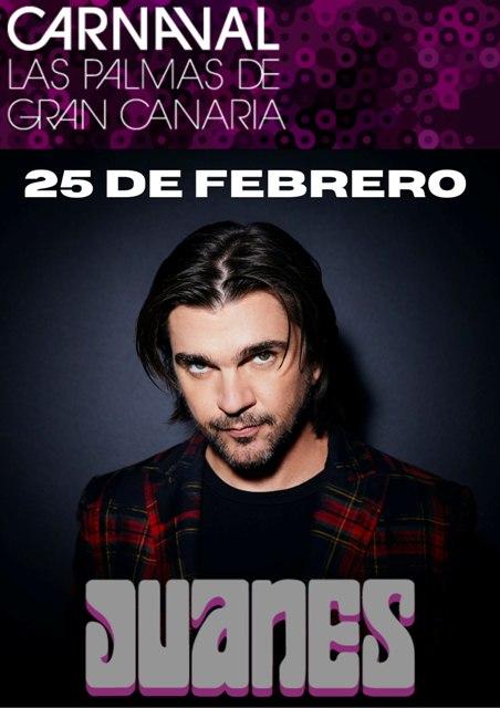 Juanes será el protagonista del Carnaval de Las Palmas de Gran Canaria