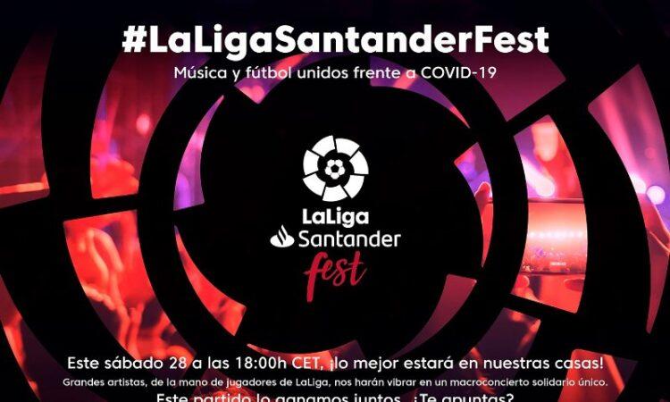 La Liga Santander Fest reunirá a 20 cantantes y futbolistas para recaudar fondos para combatir el coronavirus