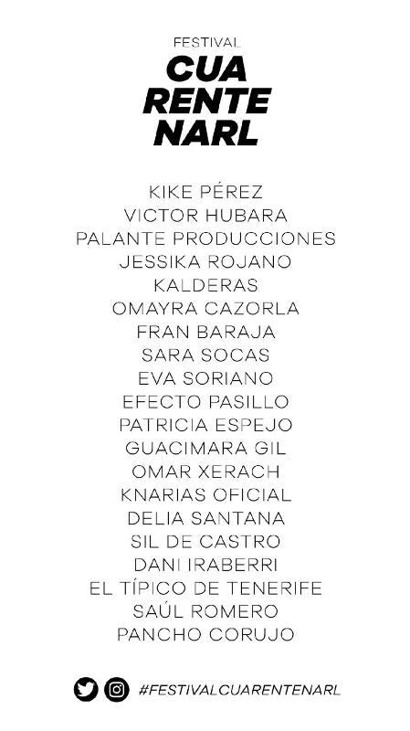 desde el perfil de Aarón Gómez se llevará a cabo el Festival Cuarentenarl que contará con la participación de humoristas y artistas del Archipiéalgo.