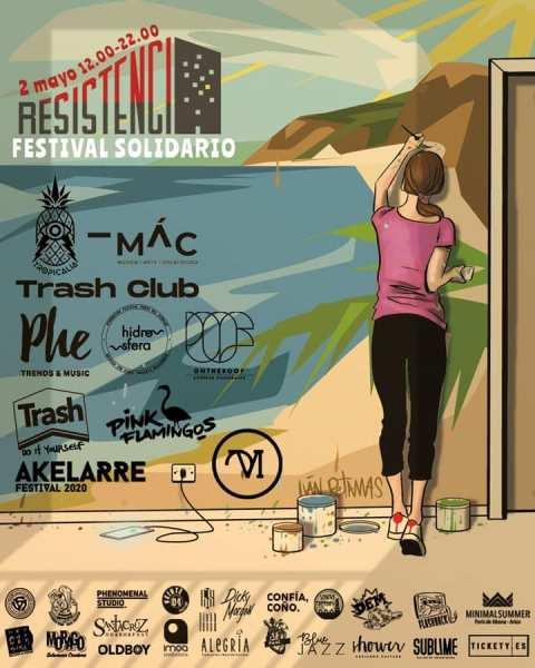 El sábado 2 de mayo se desarrollará el Festival Resistencia, cuya recaudación servirá para crear un fondo económico que apoye a sanitarios y otros colectivos de la isla expuestos al coronavirus.