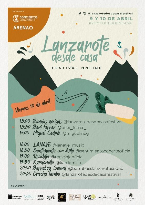 El primer festival online con músicos de Lanzarote, reunirá a más de 15 artistas de la Isla que ofrecerán su música en directo el jueves 9 y el viernes 10 de abril desde sus casas.