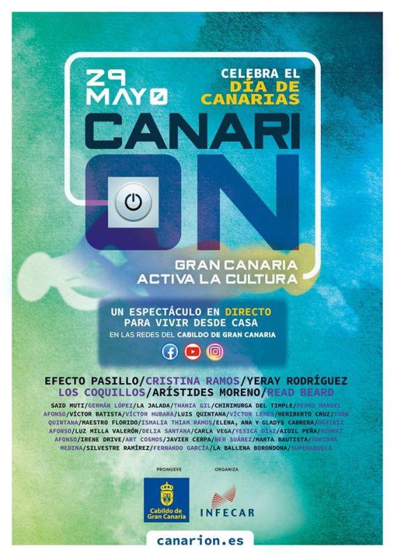 Efecto Pasillo, Cristina Ramos, Los Coquillos, Arístides Moreno y Germán López son algunos de los 50 artistas que participarán en el Festival Canari-On el 29 de mayo.