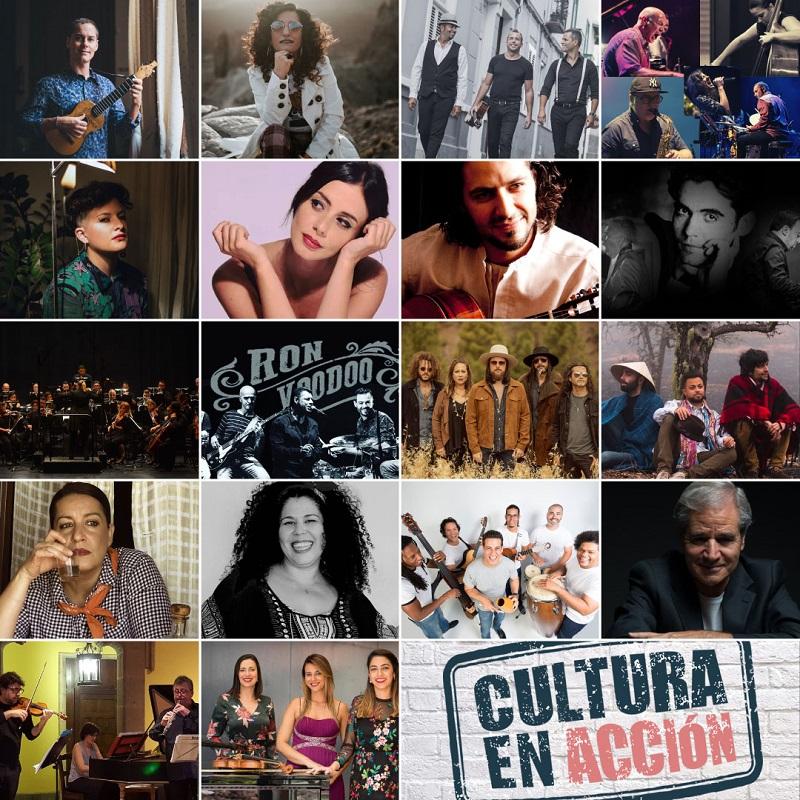 programa de conciertos de cultura en acción junio y julio 2020