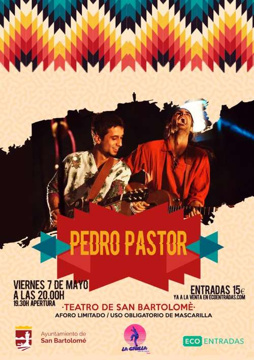 7 de mayo Pedro Pastor en concierto en Teatro de San Bartolomé - conciertos lanzarote